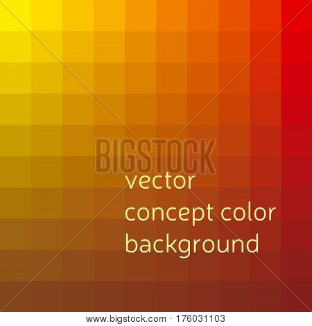 red and yellow abstract concept geometry background with squire shapes. color gradient vector illustration for background, wallpaper, covers, flayer backdrop.
