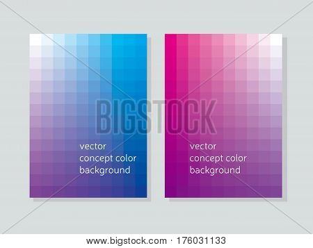 abstract concept geometry booklet cover with squire shapes. color gradient vector illustration for background, wallpaper, covers, flayer backdrop, poster.