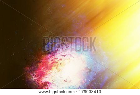 Cosmic space and stars, color cosmic abstract background. Light effect in space