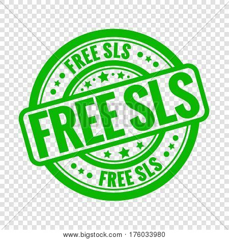 Vector free sls stamp isolated on transparent background