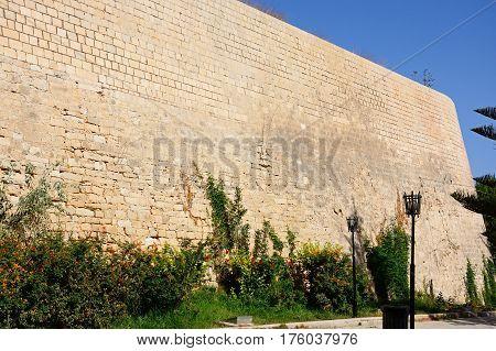 Part of the Venetian city defence wall Heraklion Crete Greece Europe.