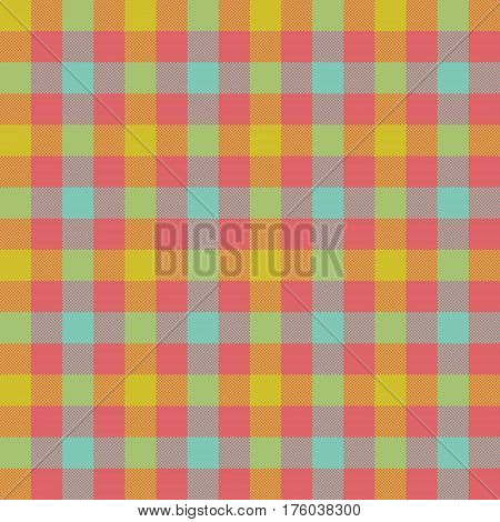 Check tablecloth seamless pattern. Vector illustration. EPS 10.
