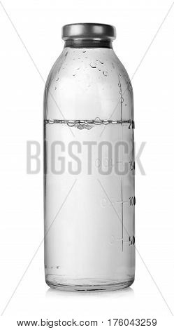 Medical bottles for infusions with physiological saline. Clipping Path