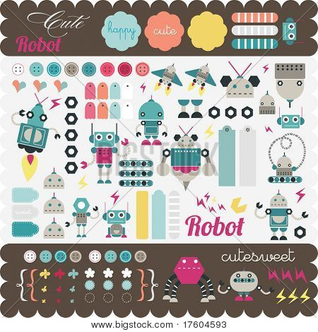 Kids elements for scrap-booking