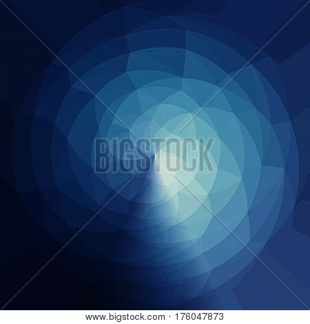 Triangular Pattern In Sphere. Color Spectrum Geometric Pattern.