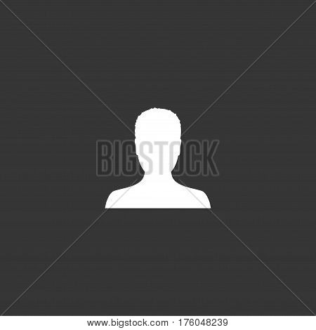 Default male avatar profile picture icon. Man photo placeholder. Vector Illustration