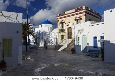 CHORA, GREECE - JANUARY 10, 2017: View of Chora village on Serifos island in Greece on January 10, 2017.