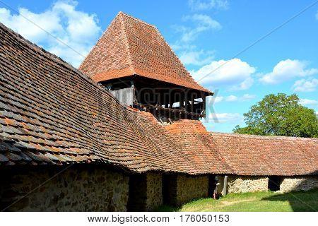 Medieval fortified saxon church in the village Viscri, Transylvania, Romania