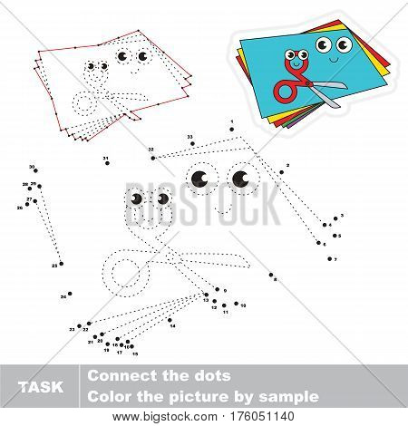 Applique in vector to be traced by numbers, the easy educational kid game with simple game level, the education and gaming for kids, visual game for children.