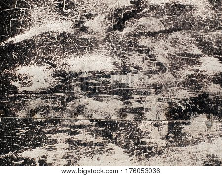 Black And White Grunge Old Scratched Surface Texture Background