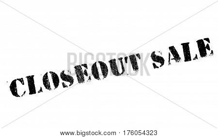 Closeout sale stamp. Grunge design with dust scratches. Effects can be easily removed for a clean, crisp look. Color is easily changed.