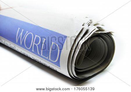 Newspaper With The Headline World News