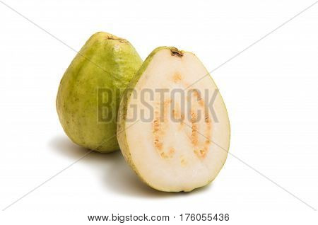 guavas exotic object isolated on white background