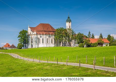 Famous Wieskirche Pilgrimage Church, Bavaria, Germany