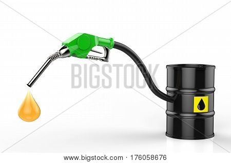Gas Nozzle With Oil Droplet And Crude Oil Barrel