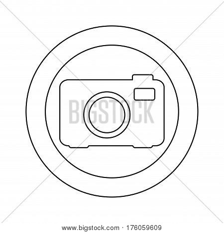figure symbol camera icon, vector illustraction design image