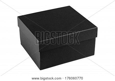 Cardboard box luxry, on isolated white background
