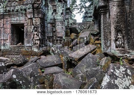 Ruins of the temple Ta Prohm, Cambodia