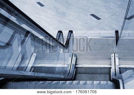 modern new escalator in underground passage
