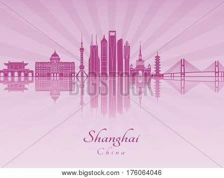 Shanghai V2 Skyline In Purple Radiant Orchid