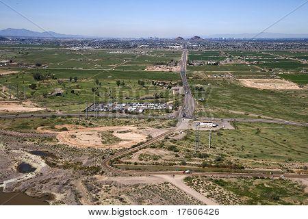 McDowell Road into Phoenix, Arizona