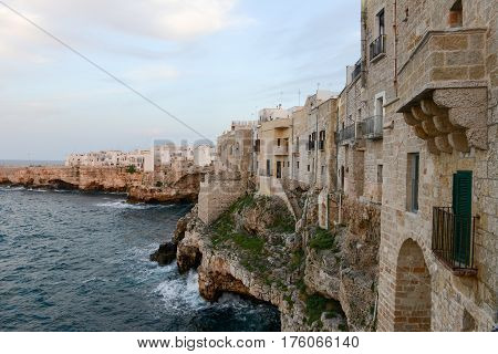 Polignano A Mare, Scenic Small Town Built On Rocks