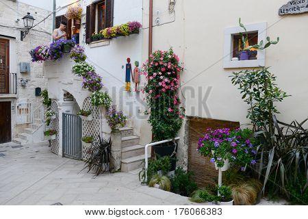 Streets Of Polignano A Mare In Puglia