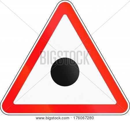 Belarusian Warning Road Sign - Accident Ahead