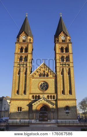 Roman Catholic Church on the central square of Nyiregyhaza, Hungary