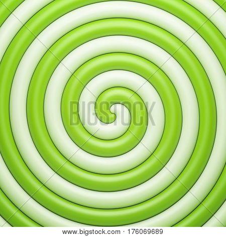 Abstract green candy spiral background. Vector illustration Eps 10