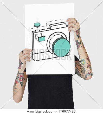 Camera Capture Snap Shot Graphic