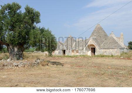 Traditional Trulli House On Puglia