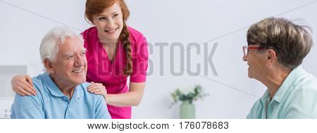 Young Nurse With Seniors