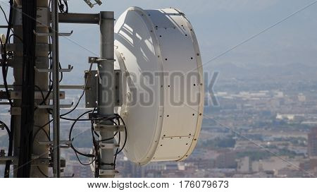 Cell Tower Dish Antenna Transmitter and Receiver