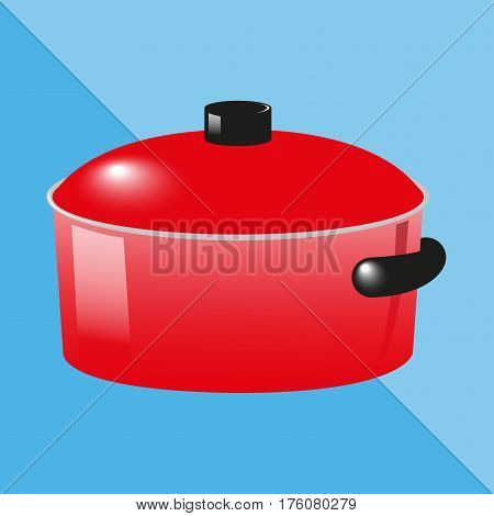 Cooking pot. Kitchen utensils and equipment icon.