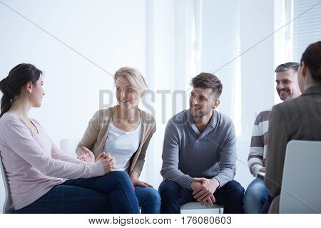 People Talking In Circle