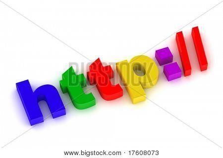 3D Abbildung Internet Zeichen