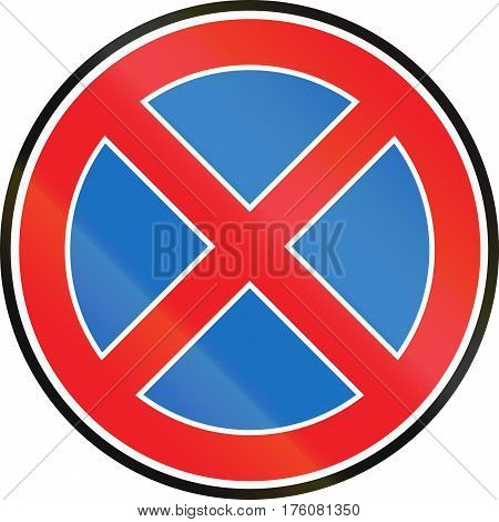 Belarusian Regulatory Road Sign - No Stopping
