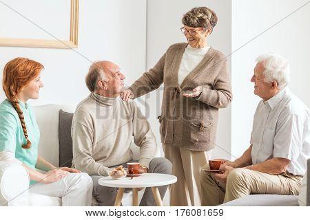 Friends At Retirement Club