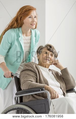 Nurse Helping Woman