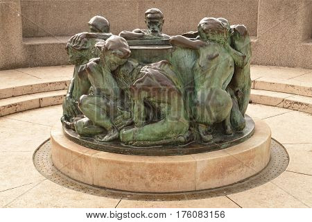 The Well of Life in Zagreb, Croatia