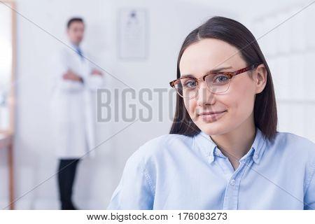 Woman Choosing New Eyeglasses