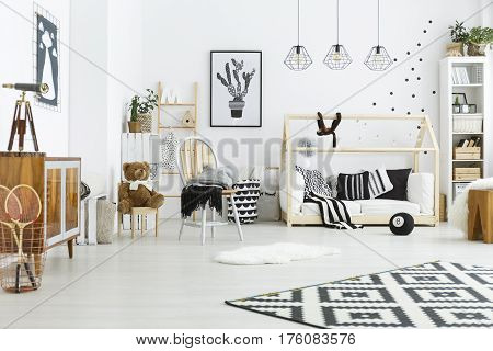 Kids Room With House Bed