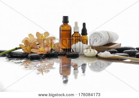 Spa Background with with spa set