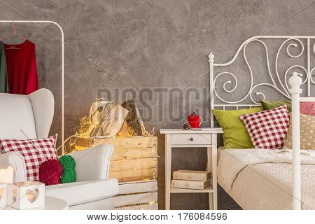 Bedroom With Comfortable Armchair