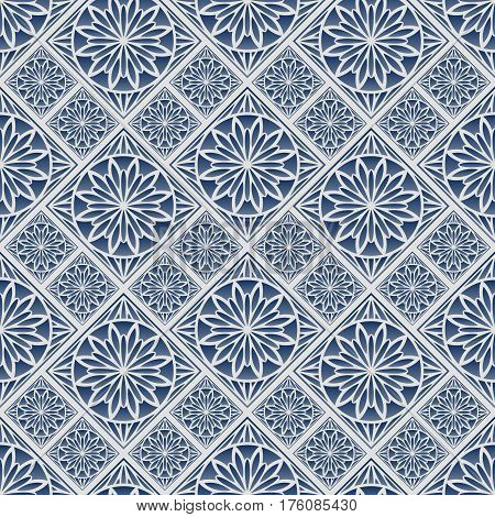 Seamless pattern oriental ornament. Arabic textile print. Islamic vector design. Floral tiles.