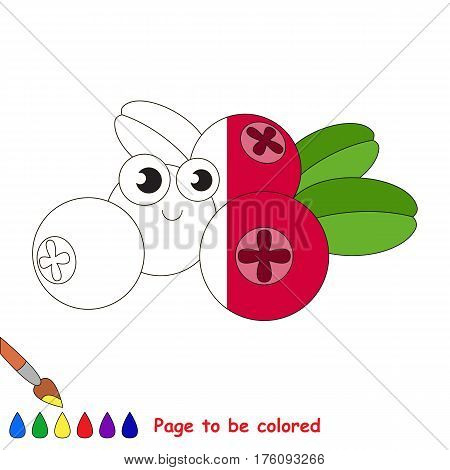 Cowberry to be colored, the coloring book to educate preschool kids with easy kid educational gaming and primary education of simple game level.