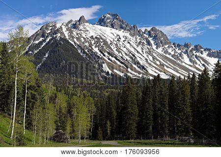 Mt. Sneffels is a fourteener in the San Juan Mountains of Colorado.