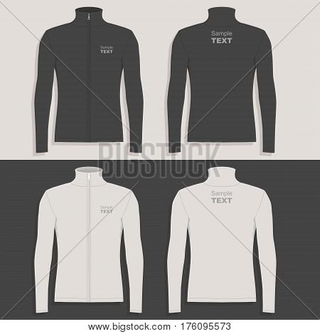Men's sport jacket (front view, back and side views)