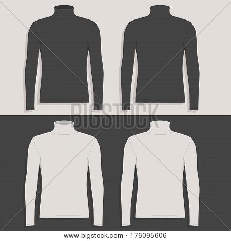 Men's sweater (front view, back and side views)